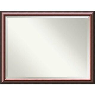 Bathroom Mirror Oversize Large, Cambridge Mahogany 45 x 35-inch
