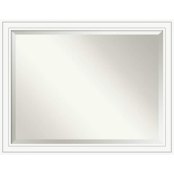 Bathroom Mirror Oversize Large, Craftsman White 45 x 35-inch