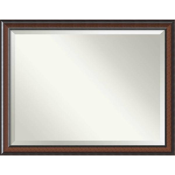 Bathroom Mirror Oversize Large, Cyprus Walnut 45 x 35-inch - Brown - 34.88 x 44.88 x 1.48 inches deep