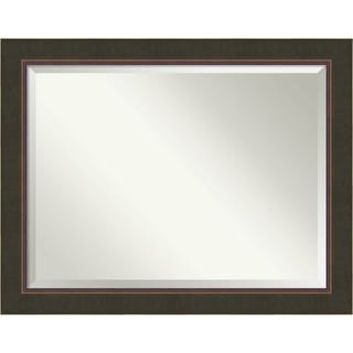 Bathroom Mirror Oversize Large, Milano Bronze 47 x 37-inch - 36.38 x 46.38 x 1.149 inches deep