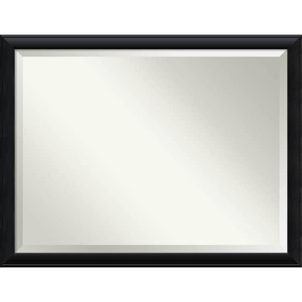 Bathroom Mirror Oversize Large, Nero Black 44 x 34-inch - 33.38 x 43.38 x 0.895 inches deep