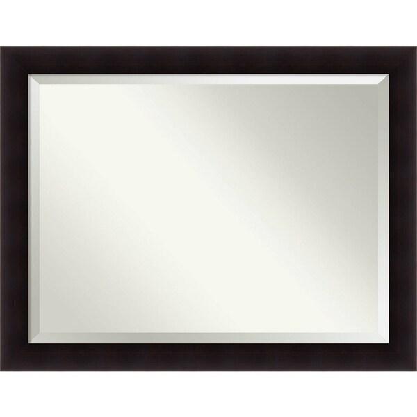 Bathroom Mirror Oversize Large, Portico Espresso 46 x 36-inch