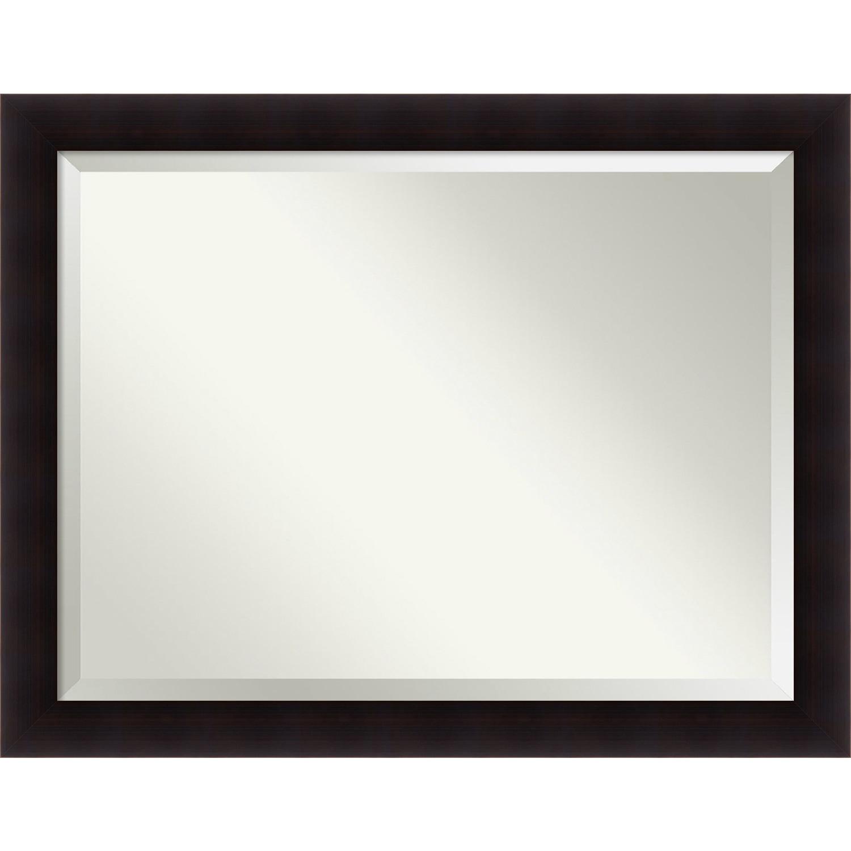 Espresso//Silver Framed Bathroom Custom-Sized Framed Mirror