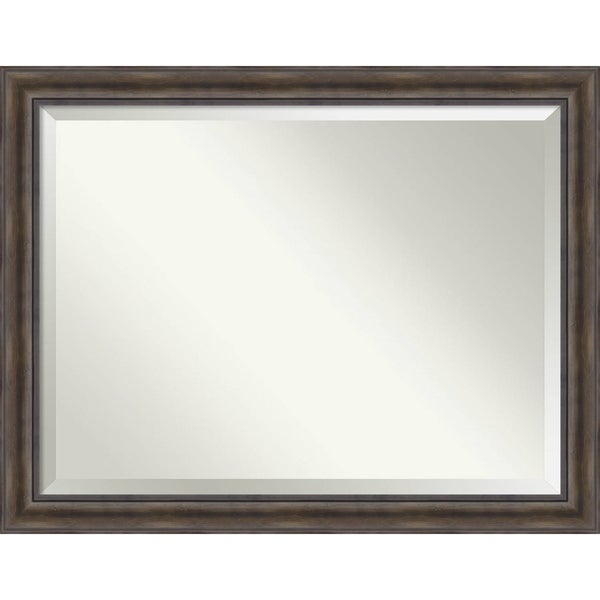 Bathroom Mirror Oversize Large, Rustic Pine 46 x 36-inch