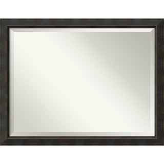 Bathroom Mirror Oversize Large, Signore Bronze 45 x 35-inch