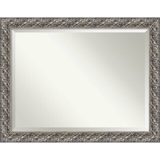 Bathroom Mirror Oversize Large, Silver Luxor 46 x 36-inch - 35.75 x 45.75 x 1.209 inches deep