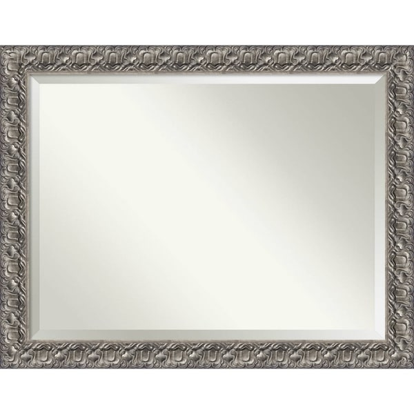 Charmant Bathroom Mirror Oversize Large, Silver Luxor 46 X 36 Inch