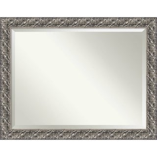 Bathroom Mirror Oversize Large, Fits Standard 36-inch to 48-inch Cabinet, Silver Luxor 46 x 36-inch