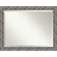 Bathroom Mirror Oversize Large, Silver Luxor 46 x 36-inch