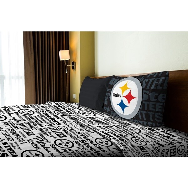 NFL 820 Steelers Twin Sheet Set Anthem