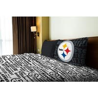NFL 820 Steelers Twin Sheet Set Anthem
