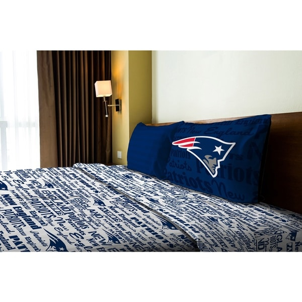 NFL 820 Patriots Twin Sheet Set Anthem