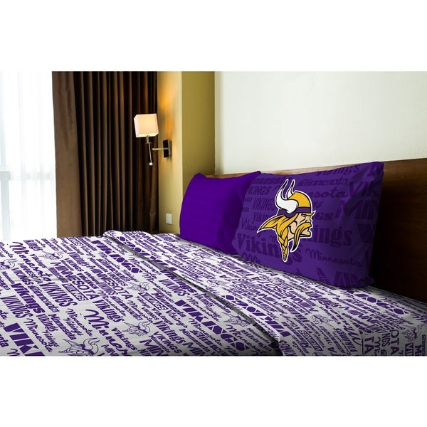 NFL 820 Vikings Twin Sheet Set Anthem