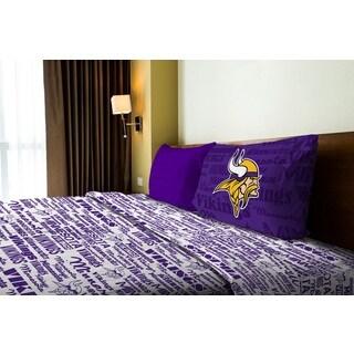 NFL 820 Vikings Twin Sheet Set Anthem