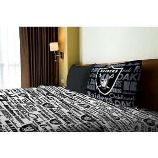 NFL 820 Raiders Twin Sheet Set Anthem