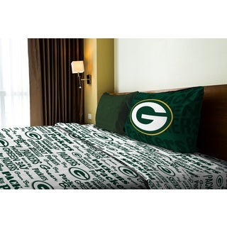 NFL 820 Packers Twin Sheet Set Anthem