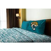 NFL 820 Jaguars Twin Sheet Set Anthem