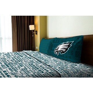 NFL 820 Eagles Twin Sheet Set Anthem