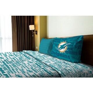 NFL 820 Dolphins Twin Sheet Set Anthem
