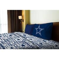 NFL 820 Cowboys Twin Sheet Set Anthem