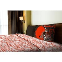 NFL 820 Browns Twin Sheet Set Anthem
