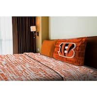 NFL 820 Bengals Twin Sheet Set Anthem