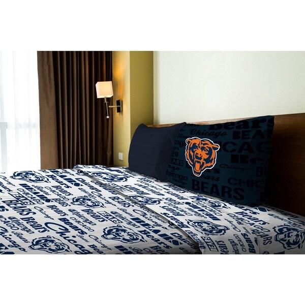 NFL 820 Bears Twin Sheet Set Anthem