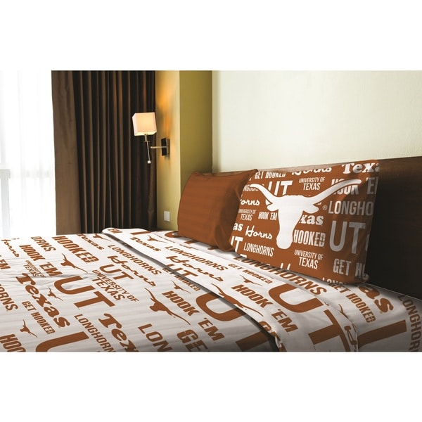 COL 820 Texas Twin Sheet Set Anthem