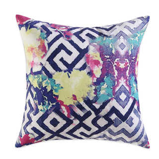 Tracy Porter Florabella Printed Velvet Feather-filled 18-inch Square Decorative Throw PIllow