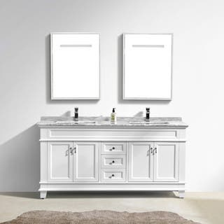 vanity bathroom double sink. Moreno Fayer 72  Double Sink White Bathroom Vanity With Carrara Marble Top Size Vanities Cabinets For Less