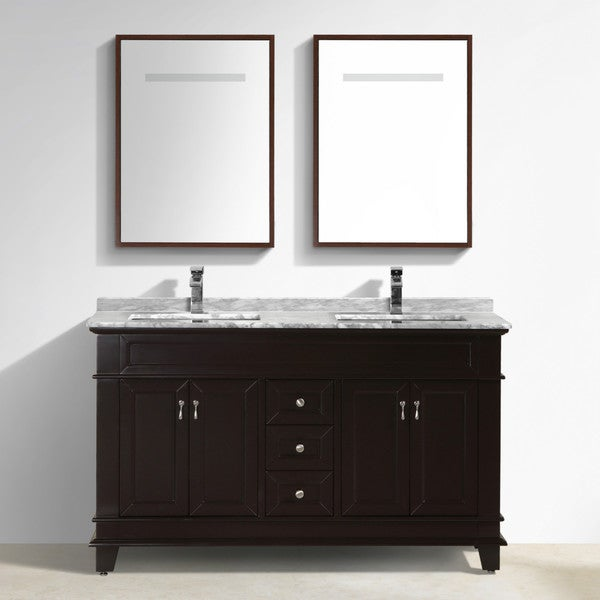 Shop moreno bath fayer 60 inch free standing double sink - Freestanding double bathroom vanity ...