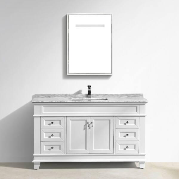 Shop Moreno Bath Fayer 60 Inch Free Standing Single Sink White