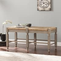 Harper Blvd Kennon Seagrass Bench/ Cocktail Table