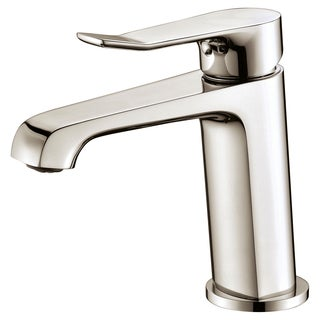 Dawn Brushed Nickel Single-lever Standard Pull-up Drain with Lift Rod Lavatory Faucet