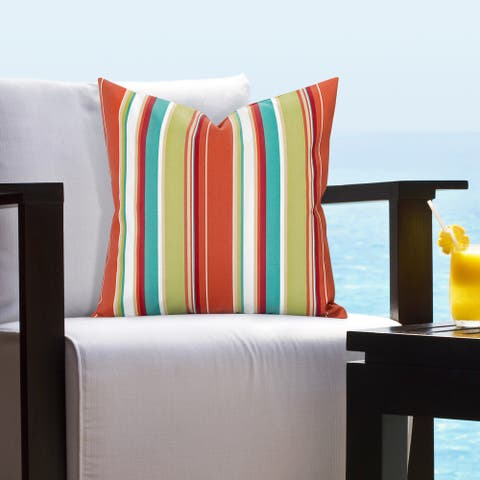Siscovers Bright Striped Indoor - Outdoor Accent Pillows