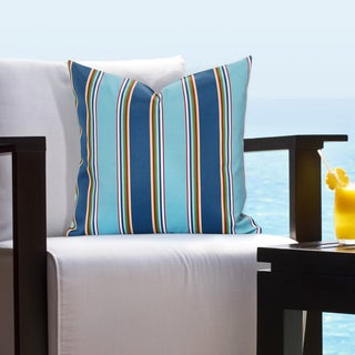 Siscovers Indoor - Outdoor Crystal Pier Tropical Throw Pillow