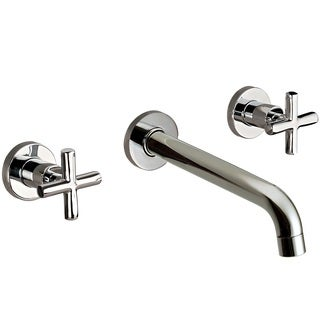 Dawn USA Brushed-nickel Brass Wall-mounted Double-handle Concealed Washbasin Mixer