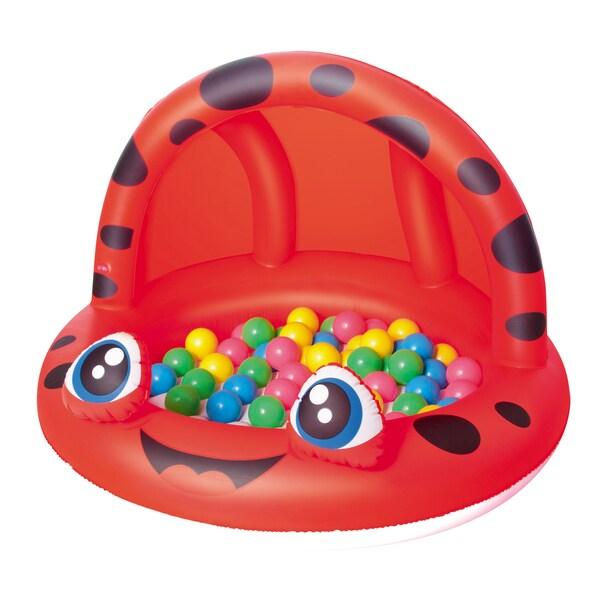 Bestway 38 Inch Ladybug Shaded Play Pool