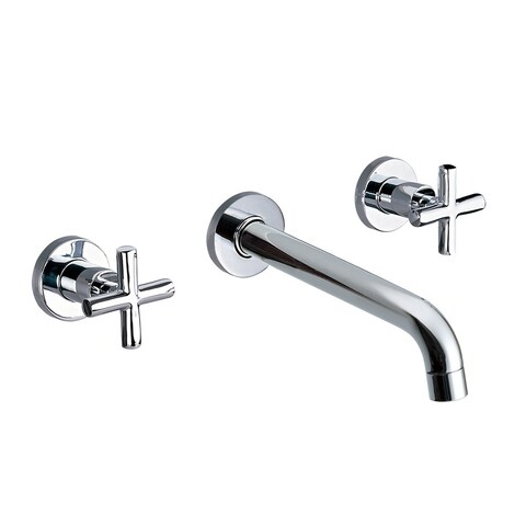 Dawn USA Chrome Wall-mounted Double-handle Concealed Washbasin Mixer