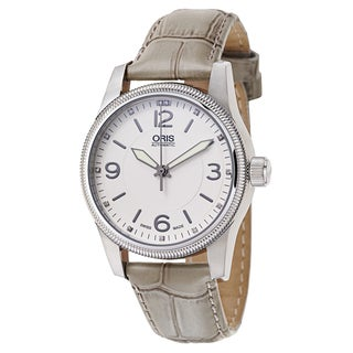 Oris Men's Big Crown Stainless Steel White Swiss Mechanical Automatic Watch