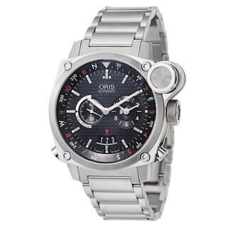 Oris Men's BC4 BC4 Flight Timer Stainless Steel Black Swiss Mechanical Automatic Watch