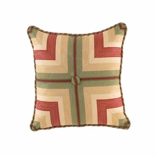 Waverly Laurel Springs Button Tufted Accent Throw Pillow