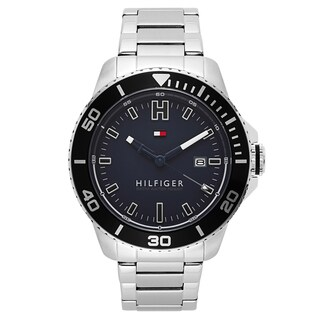 Tommy Hilfiger Men's Wade Stainless Steel Blue Japanese Swiss Quartz Watch