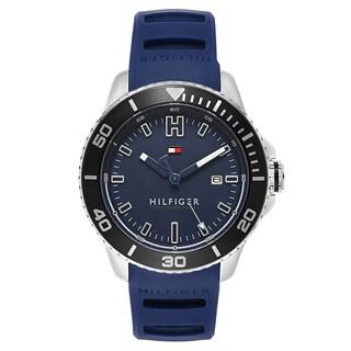 Tommy Hilfiger Men's Wade Stainless Steel Blue Japanese Swiss Quartz Watch