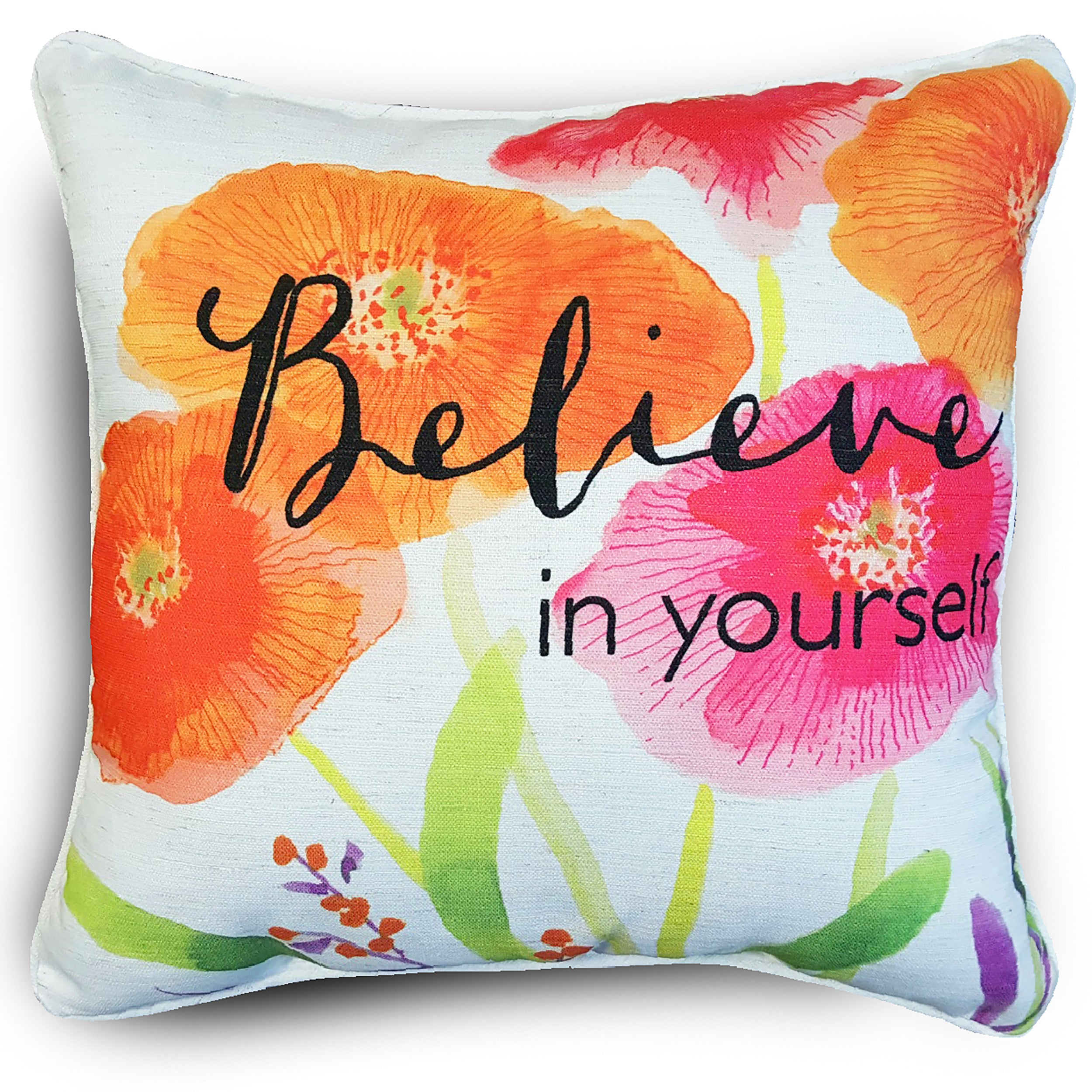 Edith Believe Multicolored Reversible Floral Patterned Throw Pillows Set Of 2 Overstock 15617148
