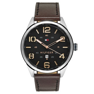 Tommy Hilfiger Men's Conner Stainless Steel Black Japanese Swiss Quartz Watch