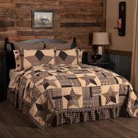 Black Classic Country Bedding Denton Quilt Cotton Star Patchwork