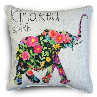 Edith Elephant Floral Throw Pillows (Set of 2)