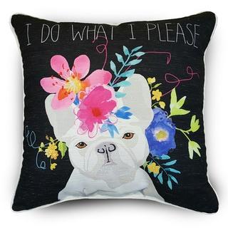 Edith Multicolor French Bulldog Throw Pillows (Set of 2)
