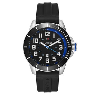 Tommy Hilfiger Men's Sport Stainless Steel Black Japanese Swiss Quartz Watch